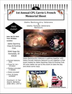 1st Annual CPL Carrie L French Memorial Shoot