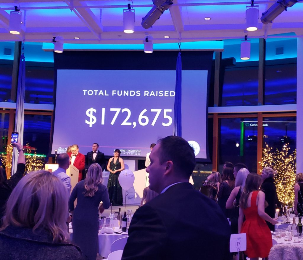 The total raised for the evening!